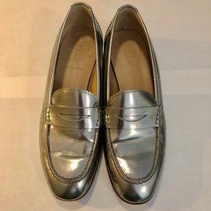 J.Crew - Biella metallic penny loafers